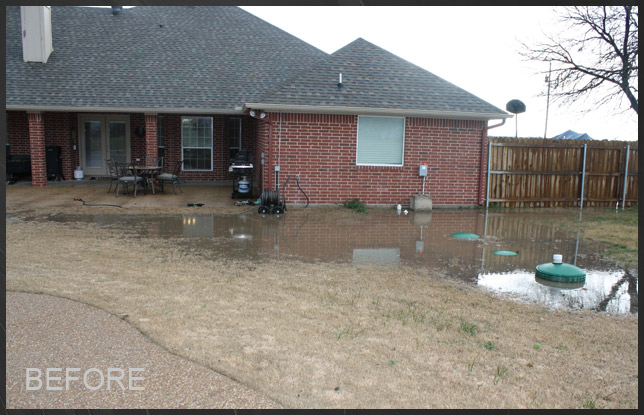 Cleburne, TX - Morales Family - Drainage Solutions Past Projects - Dallas Fort Worth Residential ...